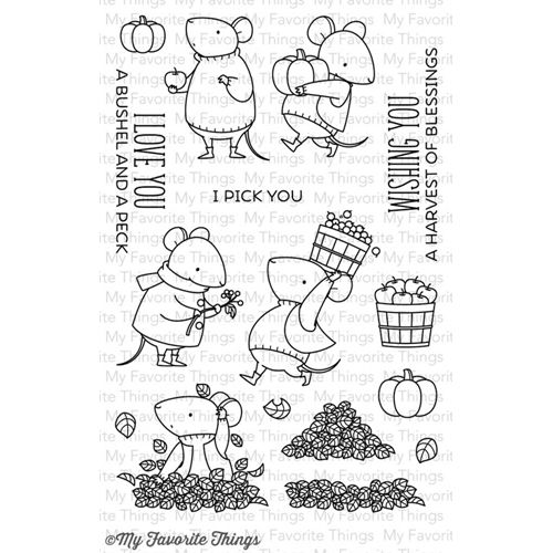 My Favorite Things HARVEST MOUSE Clear Stamps BB24