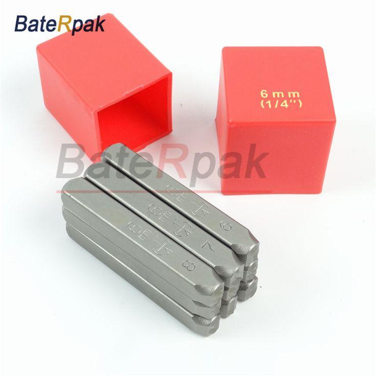 BateRpak Stanard Motorbike,car chassis number stamp,punch stamp/prefix seal,Number(0-9) Size 6mm