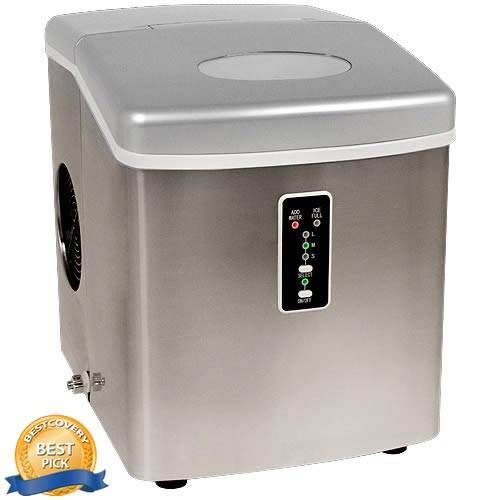 EdgeStar Portable Stainless Steel Ice Maker - something to think about incorporating into kitchen design since ice makers take up valuable real estate in a refrigerator.