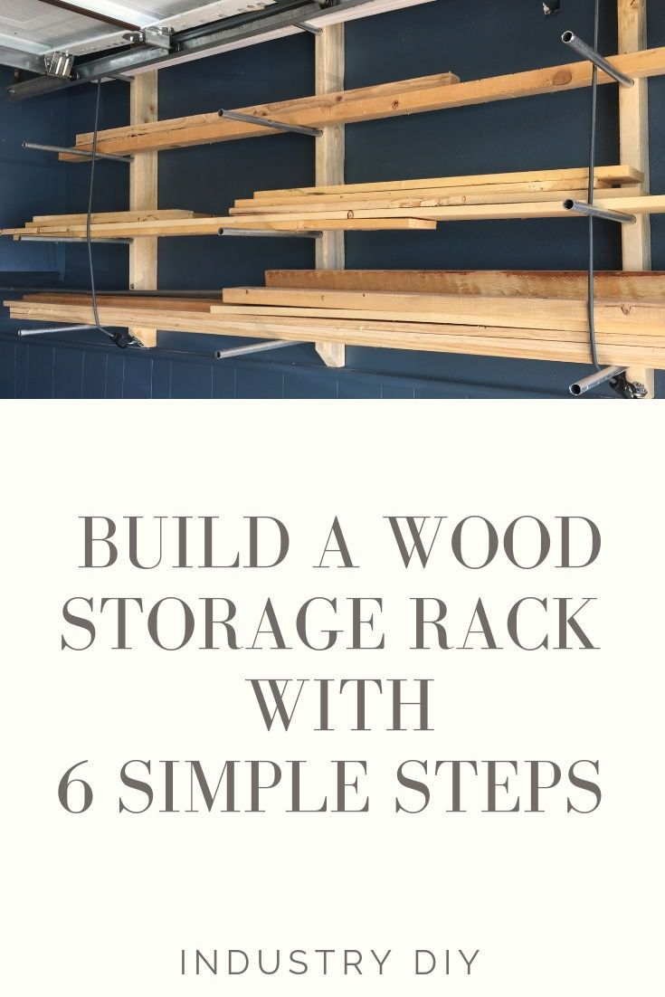 Diy Wood Storage Rack With Conduit 6 Easy Steps Diy Pinterest