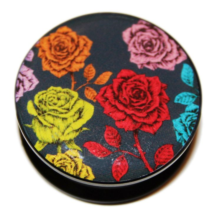 Just Eros Body Jewellery - Vintage Multi-coloured Roses PMMA Acrylic Screw-Fit Flesh Plug, £4.49 (http://justeros.com/vintage-multi-coloured-roses-pmma-acrylic-screw-fit-flesh-plug/)
