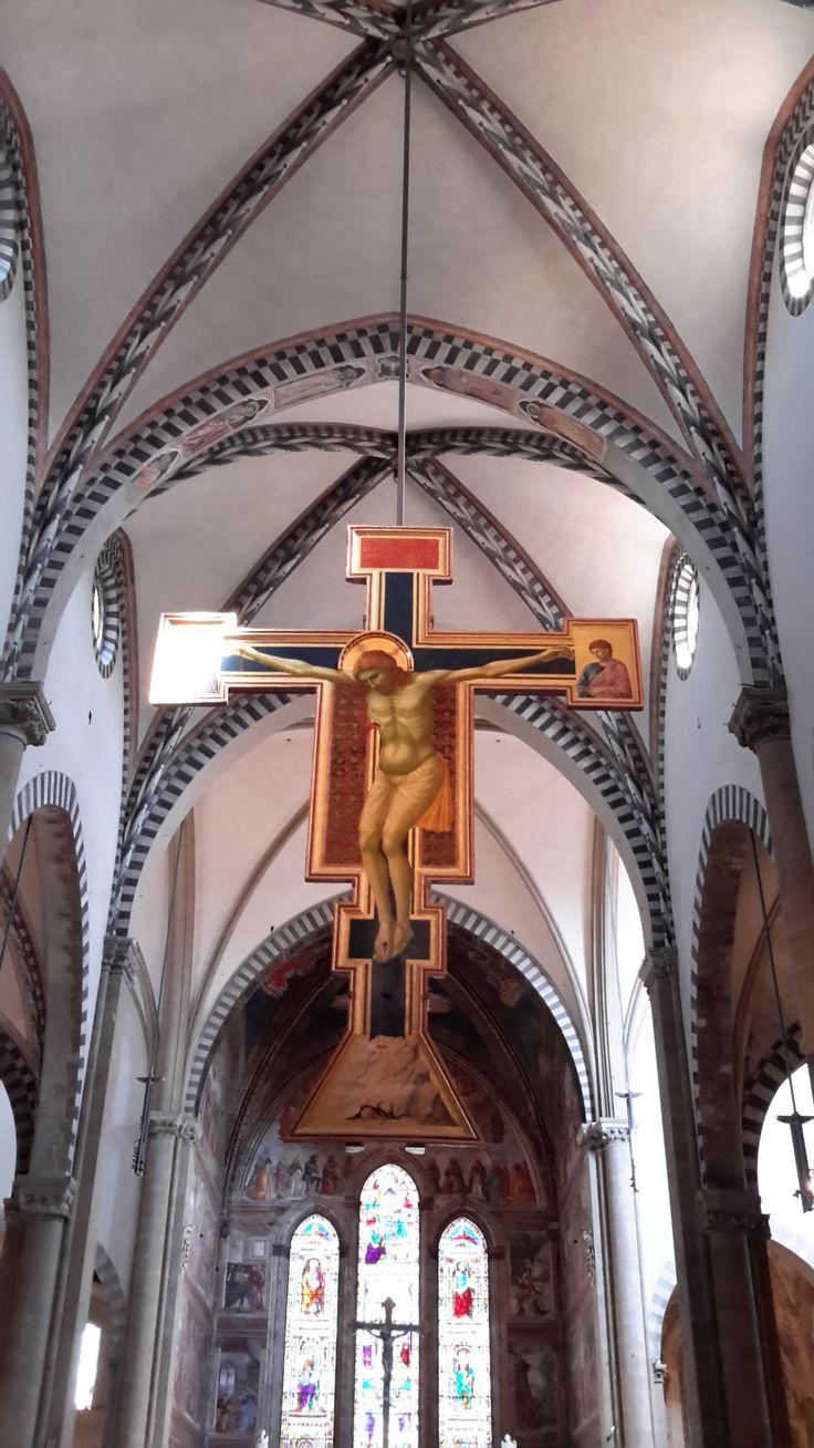 Деревянная доска. 1290-1291 гг. Джотто ди Бондоне. Церковь Санта Мария Новелла, Флоренция.