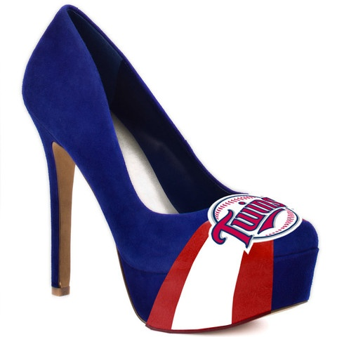 HERSTAR™ Women's Minnesota Twins High Heel Suede Pumps