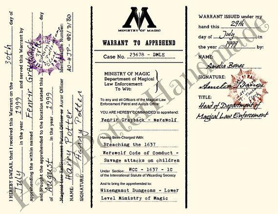 7 Piece Ministry of Magic issued by FandomoniumFantasies on Etsy