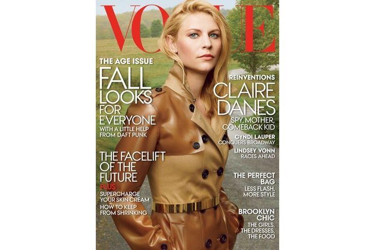 Schauspielerin Claire Danes ziert den Titel der August-Ausgabe der US-VOGUE