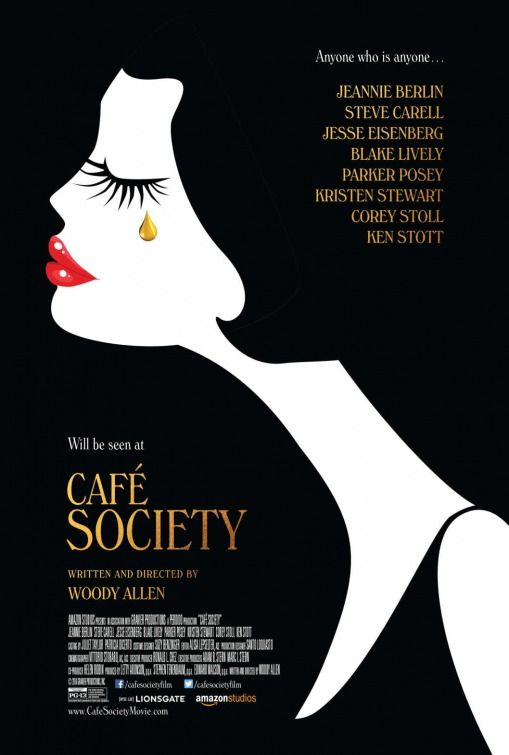 Café Society (2016) Movie Poster - View the Sweet Romance Art Deco Jewelry…