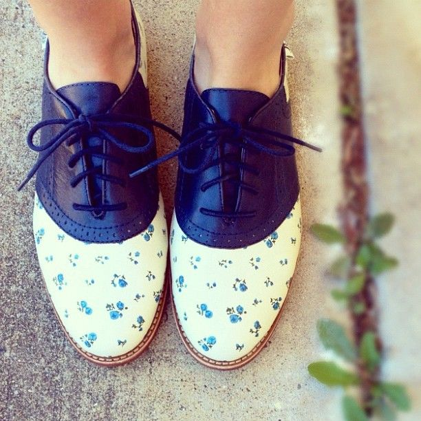 """Rachel Antonoff for Bass shoes. I bought the """"Maebird"""" patent leather and plastic oxfords. Love them!!"""