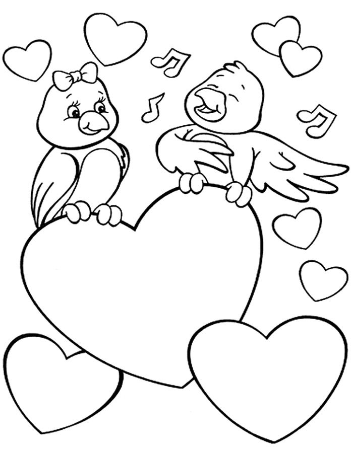 Открытка с днем святого валентина рисунки
