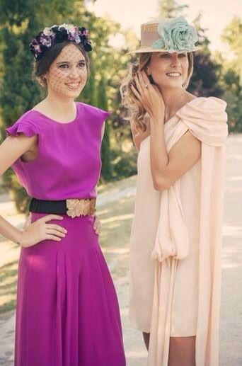 Vestido asimétrico rosa empolvado