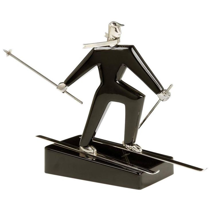 Rare ski Figure by Franz Hagenauer | From a unique collection of antique and modern sculptures at https://www.1stdibs.com/furniture/decorative-objects/sculptures/