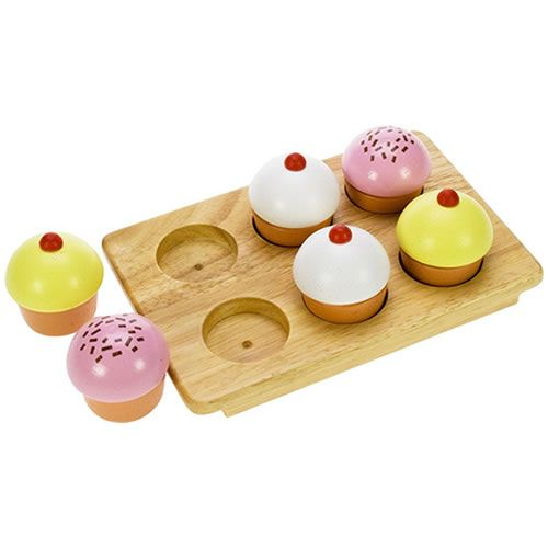 Wooden Play Food Muffins