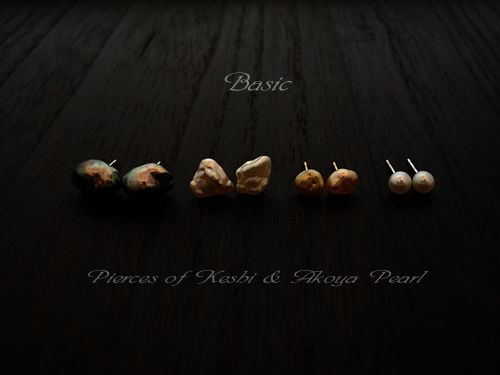 [Pearl Collection : 050] Pierces-K18YG/Pearl