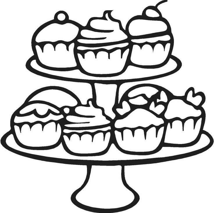 etagere met cupcakes coloring pages for kidsprintable - Cupcakes Coloring Pages Printable