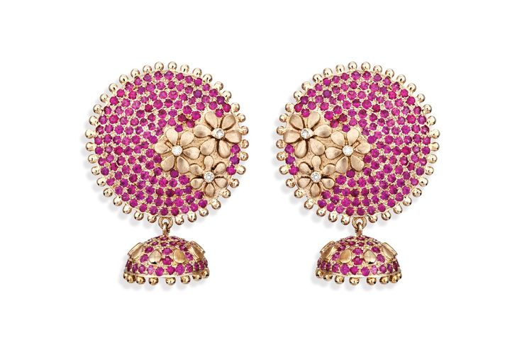 Roshni Ruby Jhumka - Jewellery / Jhumkas - Parisera