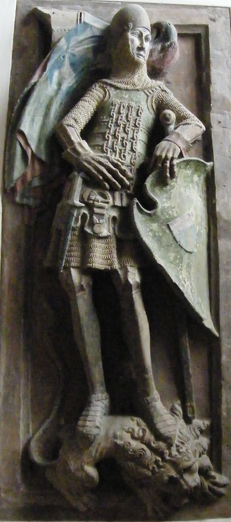 Walther Bopfinger 1336  Germany Bopfingen - St Blasius  Note similarity to the extant coat of plates from Hirschenstein castle.