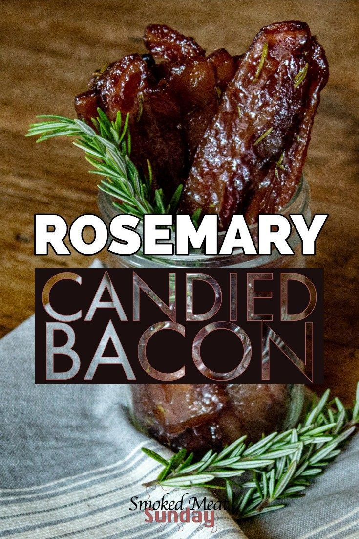 Baking Bacon in your smoker is easy, and this Rosemary Candied Bacon is some of the best bacon that will ever