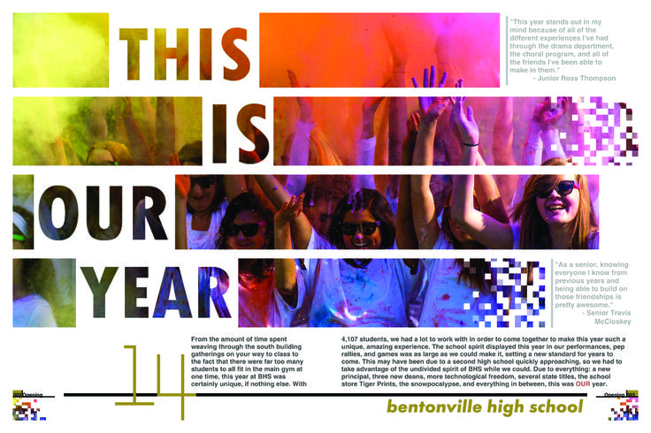 YTO DESIGN CONTEST 1ST PLACE // Adviser - Ace Horton, BentonVille High School [AR] #Jostens #DesignContest2014