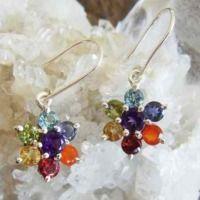 34 Chakra stones Earrings