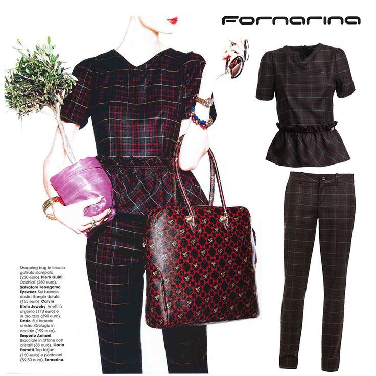 As seen on Glamour Italia, #Fornarina #totallook from FW14-15 collection. #myFornarina #Press #styletip