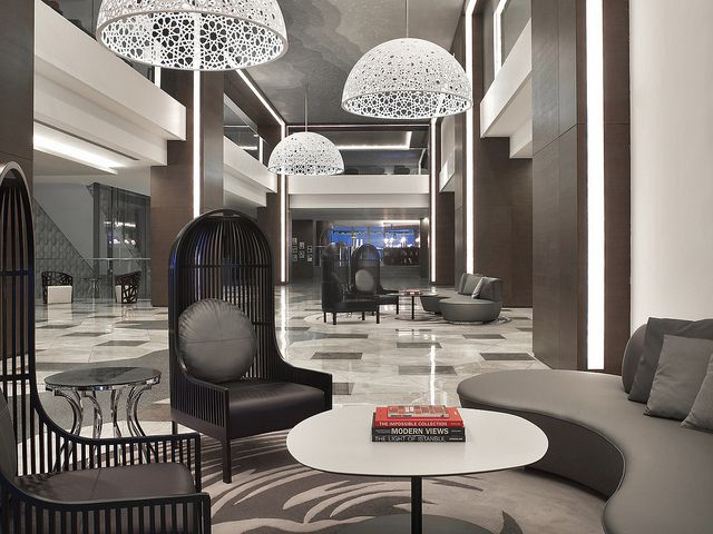 Le m ridien istanbul etiler lobby by lemeridien hotels and for Hotel lobby design trends