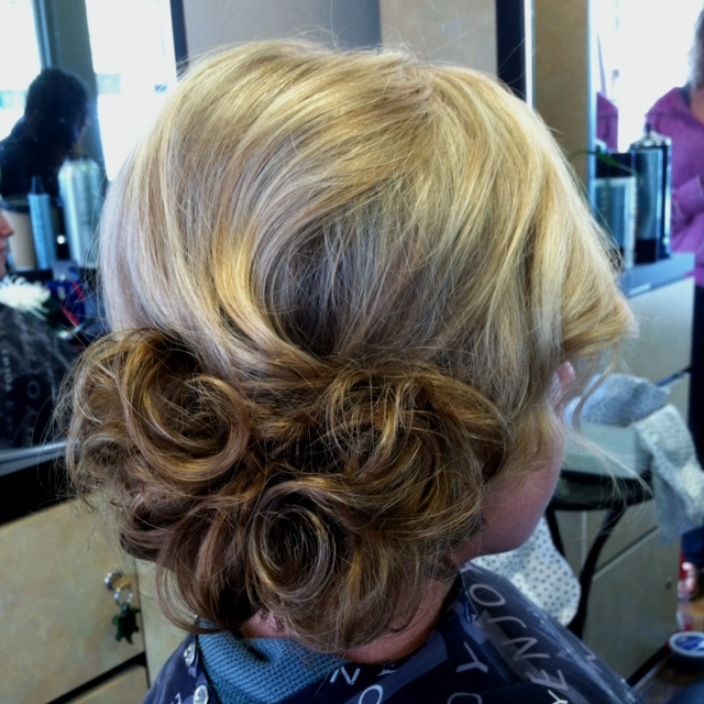 Today's bride! Hair by Denise at Tops Salon 619.295.1525