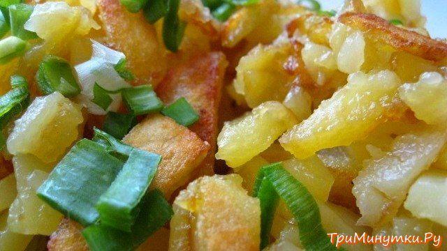 Как приготовить картошку с поджаркой