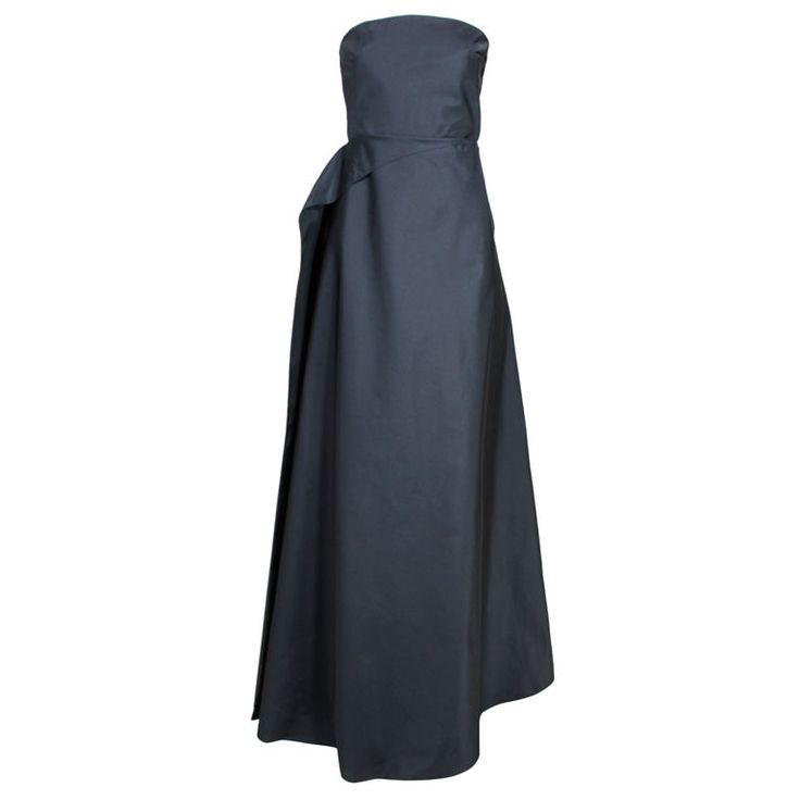 1stdibs.com | Calvin Klein Backless Silk Taffeta Gown