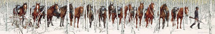 Artifacts Gallery - Two Indian Horses : Bev Doolittle ... Look Deeper.. Amazing !