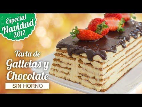 TARTA DE GALLETAS Y CHOCOLATE SIN HORNO   ESPECIAL NAVIDAD   Quiero Cupcakes! - YouTube