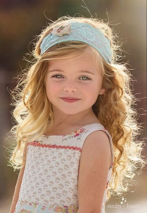 Braid Long Curly Hairstyles for Kids 2016