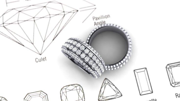 Beautiful custom made diamond ring! Soooo beautiful !