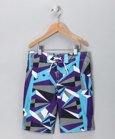 Take a look at this Purple Diamond Swim Trunks - Toddler & Boys by Baby Buns on #zulily today!
