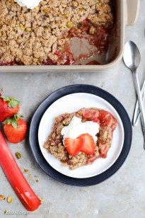 This Strawberry Rhubarb Crisp combines tart rhubarb and sweet strawberries, topped with a pistachio crumble topping! This crisp is Paleo-friendly, gluten-free, and vegan. Spring is almost here! You can feel it in the air, and I've been treasuring the extra hours of sunlight after a very long and dark Seattle winter. There's been more sunny …
