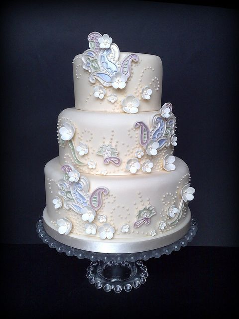 Small Paisley Topper Cake