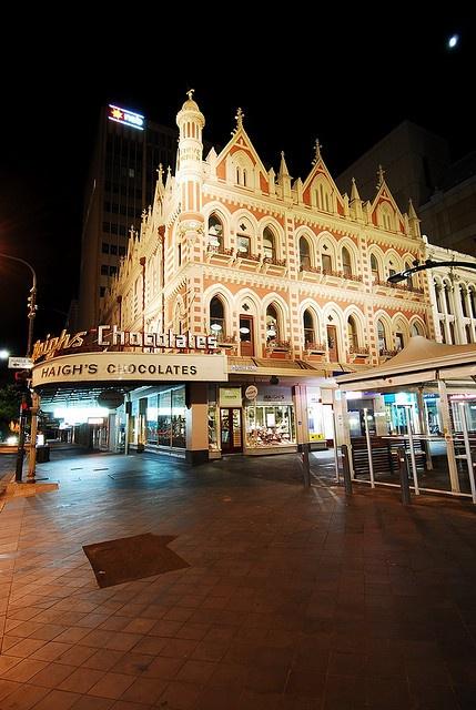 Beehive Corner and Haigh's Chocolates, icons. Adelaide.