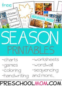 Free Preschool Printables at Preschool Mom
