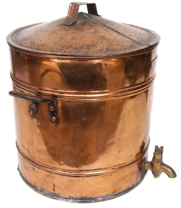 Antique copper urn water container with lockable brass tap for Copper water tank