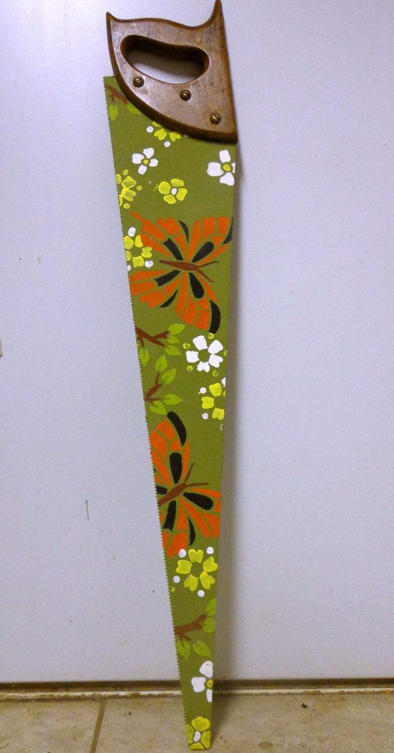 Saw Blade Fan : Best hand painted saws images on pinterest