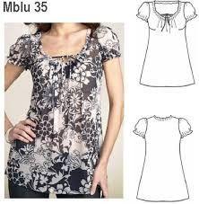 Resultado de imagen para moldes gratis de blusas modernas para imprimir