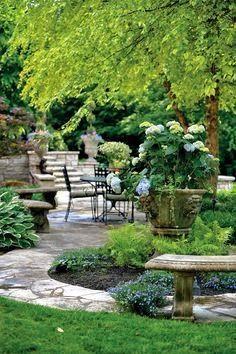 Green and stone. #PinMyDreamBackyard