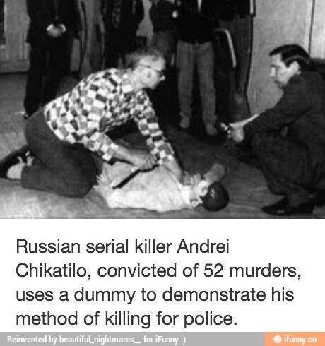 the crimes of andrei romanovich chikatilo essay Andrei romanovich chikatilo appeared to end up being simply like a regular guy a wife was had by him, two kids, was a trained teacher in russian literature, an engineer, and a proud soviet.