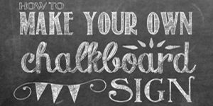 Tips for How to Make Your Own Chalkboard Sign (including a Free Printable Background&variable fonts) - Yellow Bliss Road