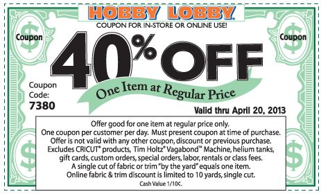 Pinned+April+17th:+40%+off+a+single+item+at+Hobby+Lobby,+or+online+via+promo+code+2108+coupon+via+The+Coupons+App