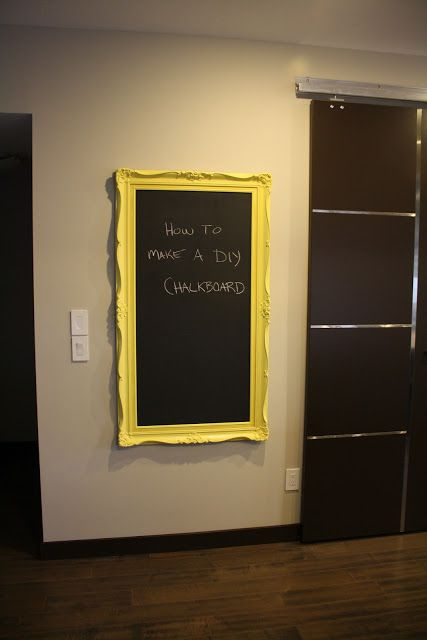 Juba Life: How to make your own framed chalkboard