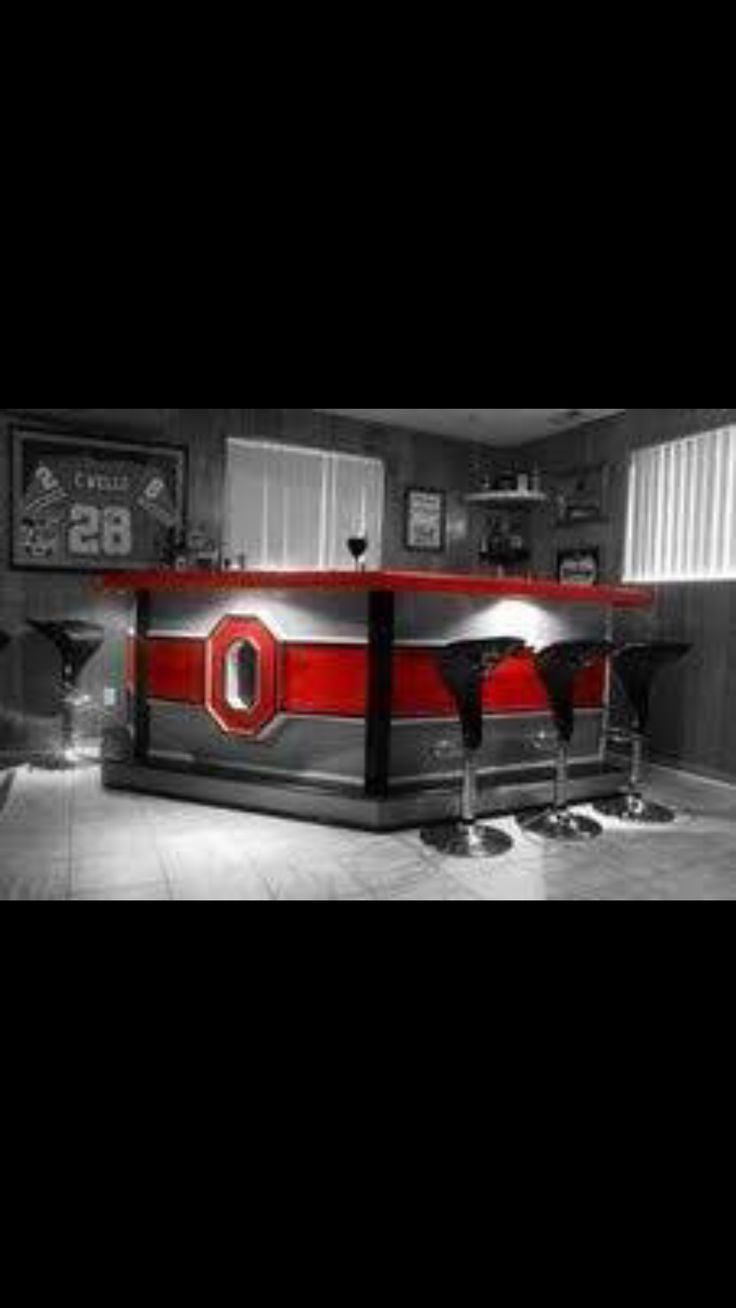 Ohio State Bar For A Sporty Man Cave To Cover The Windows With Sportyshades See