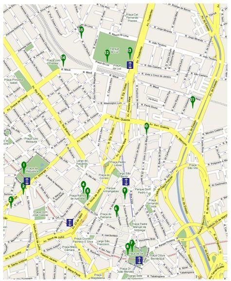 nice Sao Paulo Map Tourist Attractions