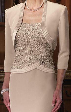 3-piece designer plus size mother of bride dresses