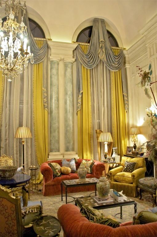 Best 159 two story window treatments images on pinterest for Old world curtains and drapes