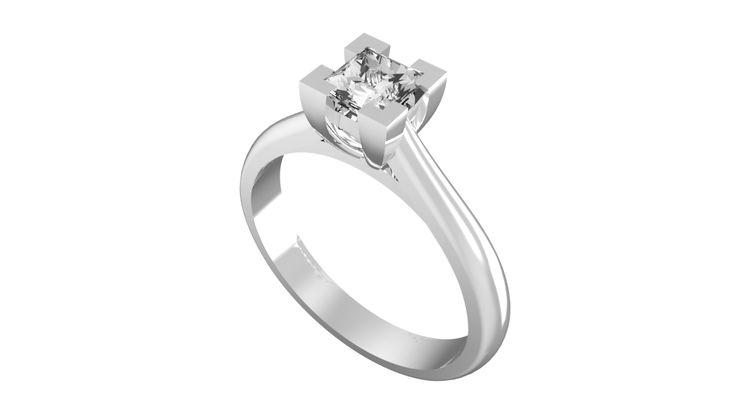 ANELLO DI FIDANZAMENTO SOLITARIO CON DIAMANTE 18CT ORO BIANCO | Solitario con diamante taglio princess montato a griffe. L`anello è disponibile in 18ct oro bianco, 18ct oro giallo e in platino. Il peso dei carati del diamante può variare da 0.20ct a 0.60ct ed il colore da F ad I e la purezza da VS1 ad SI1. L`anello è accompagnato dal certificato del diamante. Perfetto per fidanzamento, matrimonio o anniversario e come regalo nel giorno di San Valentino.