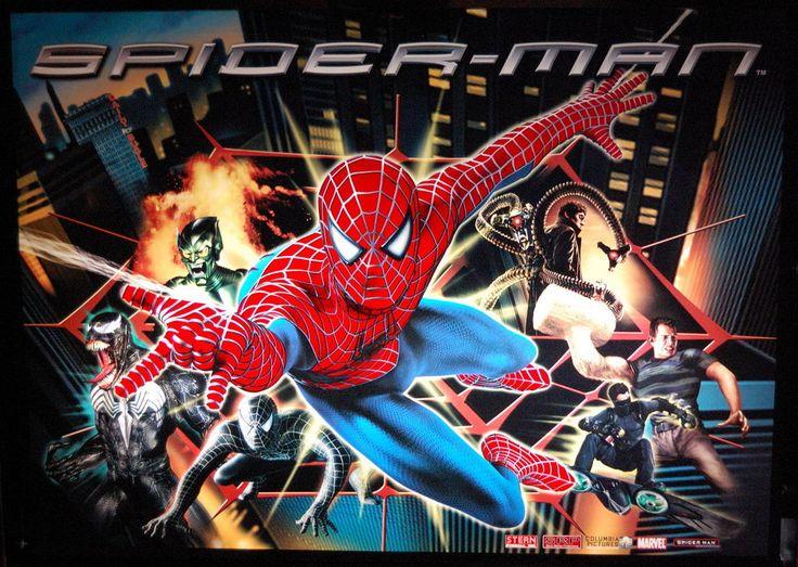 Spider-Man, Stern Pinball, June 2007, backglass